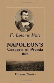 Cover of: Napoleon's Conquest of Prussia, 1806