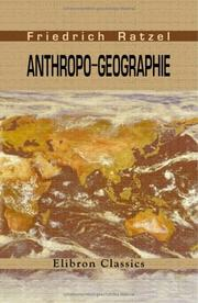 Cover of: Anthropogeographie