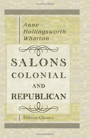 Cover of: Salons Colonial and Republican | Anne Hollingsworth Wharton