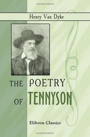 Cover of: The Poetry of Tennyson
