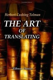 Cover of: The Art of Translating