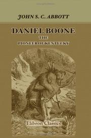 Cover of: Daniel Boone, the Pioneer of Kentucky: Series