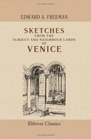 Cover of: Sketches from the subject and neighbour lands of Venice
