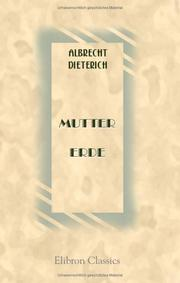 Cover of: Mutter Erde