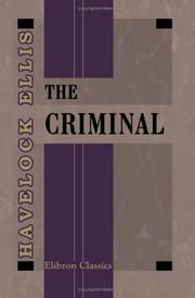 Cover of: The Criminal