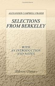 Cover of: Selections from Berkeley with an Introduction and Notes
