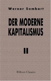 Cover of: Der moderne Kapitalismus