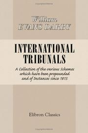 Cover of: International Tribunals | William Evans Darby