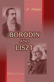 Cover of: Borodin and Liszt