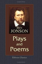Cover of: Plays and Poems | Ben Jonson