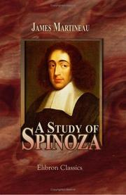 Cover of: A Study of Spinoza | James Martineau