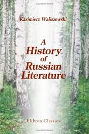 Cover of: A History of Russian Literature