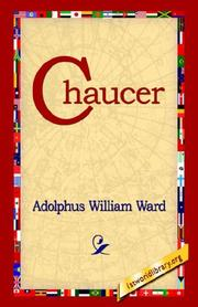 Cover of: Chaucer | Adolphus William Ward