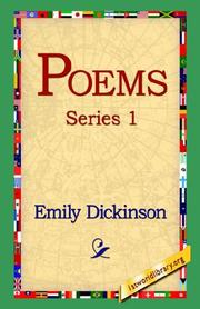 Cover of: Poems, Series 1