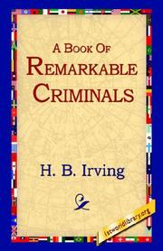 Cover of: A Book of Remarkable Criminals | Henry Brodribb Irving