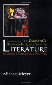 Cover of: The Compact Bedford Introduction to Literature | Michael Meyer