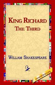 Cover of: King Richard III | William Shakespeare