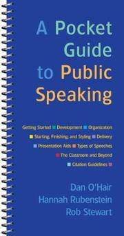 Cover of: A Pocket Guide to Public Speaking