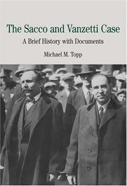 Cover of: The Sacco and Vanzetti Case