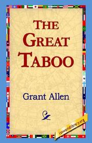 Cover of: The Great Taboo