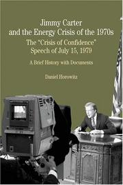 Cover of: Jimmy Carter and the Energy Crisis of the 1970s