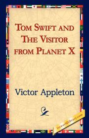 Cover of: Tom Swift and the Visitor from Planet X