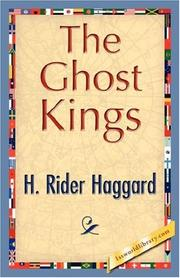 Cover of: The Ghost Kings | H. Rider Haggard