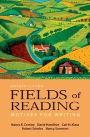 Cover of: Fields of reading |