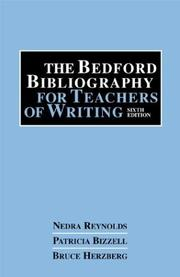 Cover of: The Bedford bibliography for teachers of writing