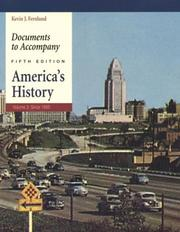 Cover of: Documents to Accompany America's History, Volume 2
