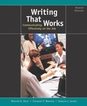 Cover of: Writing That Works: Communicating Effectively on the Job