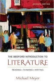 Cover of: The Bedford Introduction to Literature: Reading, Thinking, Writing