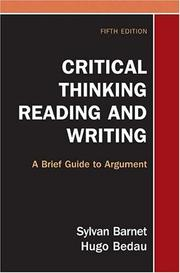 Cover of: Critical Thinking, Reading, and Writing | Sylvan Barnet