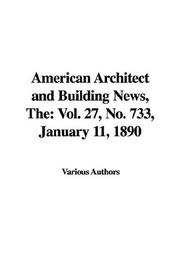 Cover of: The American Architect and Building News | Various Authors