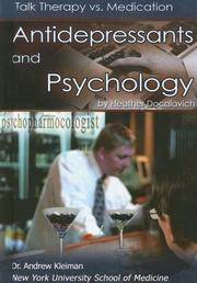 Cover of: Antidepressants And Psychology