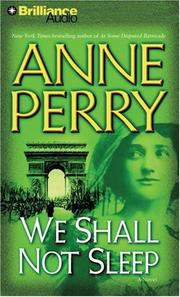 Cover of: We Shall Not Sleep (World War One)