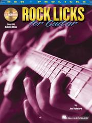 Cover of: Rock Licks for Guitar (REH Prolicks)