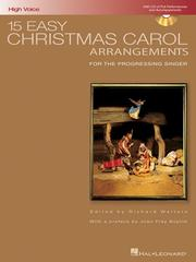 Cover of: 15 Easy Christmas Carol Arrangements - High Voice |