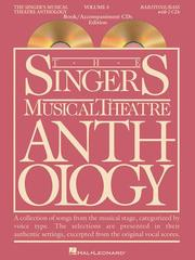 Cover of: Singer's Musical Theatre Anthology - Volume 3 | Richard Walters