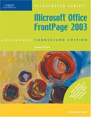 Cover of: Microsoft Office FrontPage 2003, Illustrated Introductory, CourseCard Edition