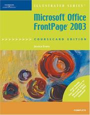Cover of: Microsoft Office FrontPage 2003, Illustrated Complete, CourseCard Edition