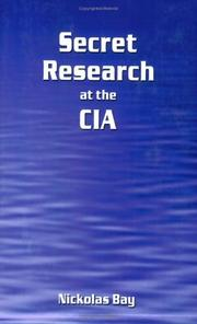 Cover of: Secret Research at the CIA