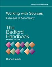 Cover of: Working with Sources | Diana Hacker