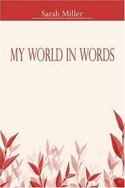 Cover of: My World in Words