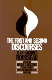 Cover of: The First and Second Discourses | Roger D. Masters