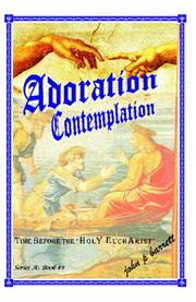 Cover of: Adoration Contemplation | John P. Barrett
