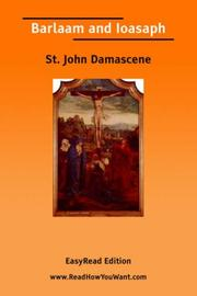 Cover of: Barlaam and Ioasaph [EasyRead Edition] | Saint John of Damascus