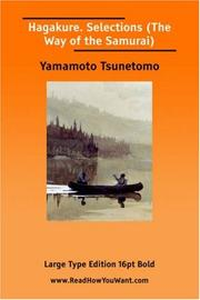 Cover of: Hagakure. Selections (The Way of the Samurai) | Yamamoto