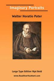 Cover of: Imaginary Portraits | Walter Pater