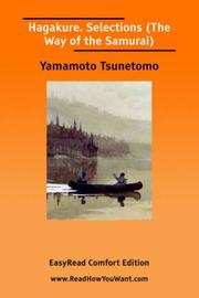 Cover of: Hagakure. Selections (The Way of the Samurai) [EasyRead Comfort Edition] | Yamamoto